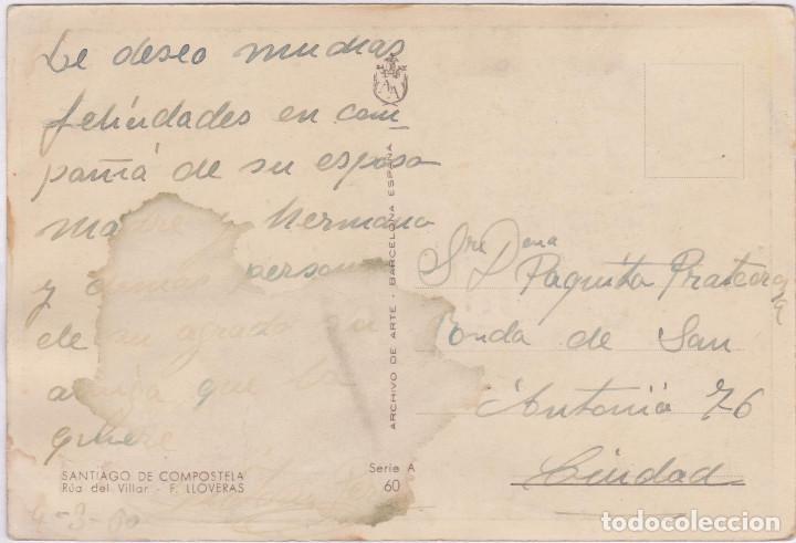 Postales: SANTIAGO DE COMPOSTELA - RÚA DEL VILLAR - Foto 2 - 132464378