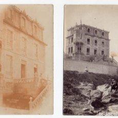 Postales: PS7862 LOTE DE 2 POSTALES FOTOGRÁFICAS DE VILLA ROSA, BAYONA. SIN CIRCULAR. PRINC. S. XX. Lote 132511570
