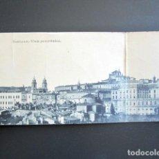 Cartes Postales: POSTAL CUÁDRUPLE SANTIAGO DE COMPOSTELA. VISTA PANORÁMICA. . Lote 133018262
