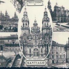 Postales: POSTAL RECUERDO DE SANTIAGO - 5 VISTAS. Lote 133022018