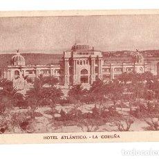 Postales: TARJETA POSTAL HOTEL ATLANTICO. LA CORUÑA.. Lote 133637061