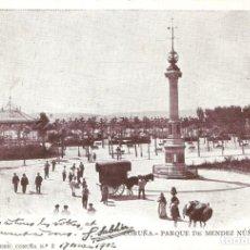 Postales: CORUÑA - PARQUE DE MENDEZ NUÑEZ (SUR) FERRER CIRCULADA EN 1902. Lote 133708230