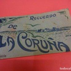 Postales: BLOC DE 10 POSTALES RECUERDO DE LA CORUÑA. Lote 133782062