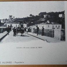 Postales: POSTAL LUGO PUENTE SOBRE EL MIÑO EDIC VIUDA DE ALONSO GALICIA PERFECTA CONSERVACION REV SIN DIVIDIR. Lote 133884510