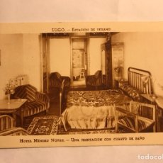 Postales: LUGO. POSTAL ESTACIÓN DE VERANO. HOTEL MÉNDEZ NÚÑEZ. EDITA: GRÁFICAS VILLARROCA (H.1950?). Lote 134137979