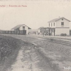 Postales: RARISIMA POSTAL DE 1910 ESTACION FERROCARRIL DE NEDA JUBIA CORUÑA CON TREN DE VAPOR - IMPECABLE. Lote 134423242