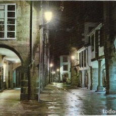 Postales: == PJ1124 - POSTAL -RUA DEL VILLAR - NOCTURNA - SANTIAGO DE COMPOSTELA. Lote 135292406