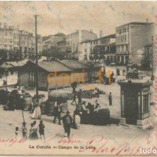 Cartoline: LA CORUÑA CAMPO DE LA LEÑA - PAPELERÍA LOMBARDERO - CIRCULADA 1902 - VER REVERSO. Lote 135502690