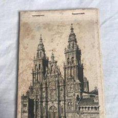 Postales: LIBRITO ANTIGUO POSTALES SANTIAGO COMPOSTELA 9 POSTALES . Lote 135639287
