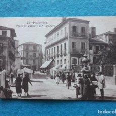 Postales: PONTEVEDRA. PLAZA DE VALENTÍN GARCÍA ESCUDERO.. Lote 135698459