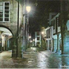 Postales: == PJ1483 - POSTAL - RUA DEL VILLAR - NOCTURNA - SANTIAGO DE COMPOSTELA. Lote 136026842