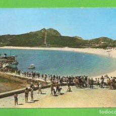 Postales: POSTAL - ISLAS CIES - DESEMBOCADERO Y PLAYA - VIGO. Lote 136075958