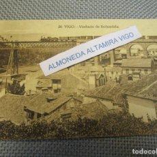 Postales: POSTAL REDONDELA PONTEVEDRA - VIADUCTO, EDI GRAFOS Nº 20 S/C, REVERSO DIVIDIDO.. Lote 136080526
