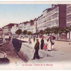 Postais: LA CORUÑA: CALLE DE LA MARINA. PHOTOGLOB ZÜRICH (P.Z.). SIN DIVIDIR. NO CIRCULADA (ANTERIOR 1905). Lote 136201754