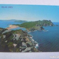 Postales: POSTAL DE VIGO : ISLAS CIES. Lote 136238462