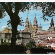 Postales: SANTIAGO DE COMPOSTELA - LA CATEDRAL DESDE EL PASEO DE LA HERRADURA- NÚM 2080 - ARRIBAS. Lote 137665382