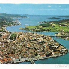 Postales: PONTEVEDRA - VISTA GENERAL Y RÍA. PANORAMA - SERIE II NÚM 9754 - POSTALES COLOR CYP. Lote 137760218