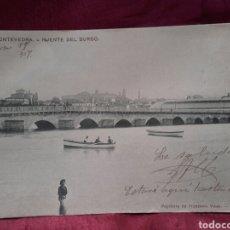 Postales: PONTEVEDRA, PUENTE DEL BURGO, 1907.. Lote 137985585