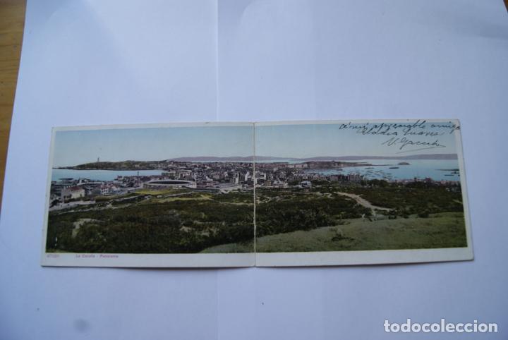 Postales: POSTAL DOBLE A CORUÑA COLOREADA AÑOS 20/30 - Foto 2 - 138214510