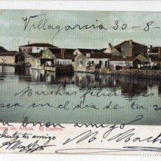 Postales: VILLAGARCÍA DE AROSA. EL CASTRO. FRANQUEADA EL 31 DE AGOSTO DE1910.. Lote 138697786