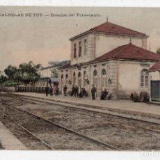 Postales: CALDELAS DE TUY. ESTACIÓN DE FERROCARRIL. . Lote 138698762