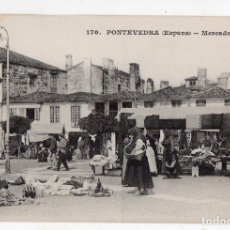 Postales: PONTEVEDRA. MERCADO.. Lote 138699210