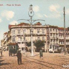 Postales: VIGO - PLAZA DE URZAIZ EDICIÓN LIBRERIA E.B. TETILLA SIN CIRCULAR. Lote 138740286