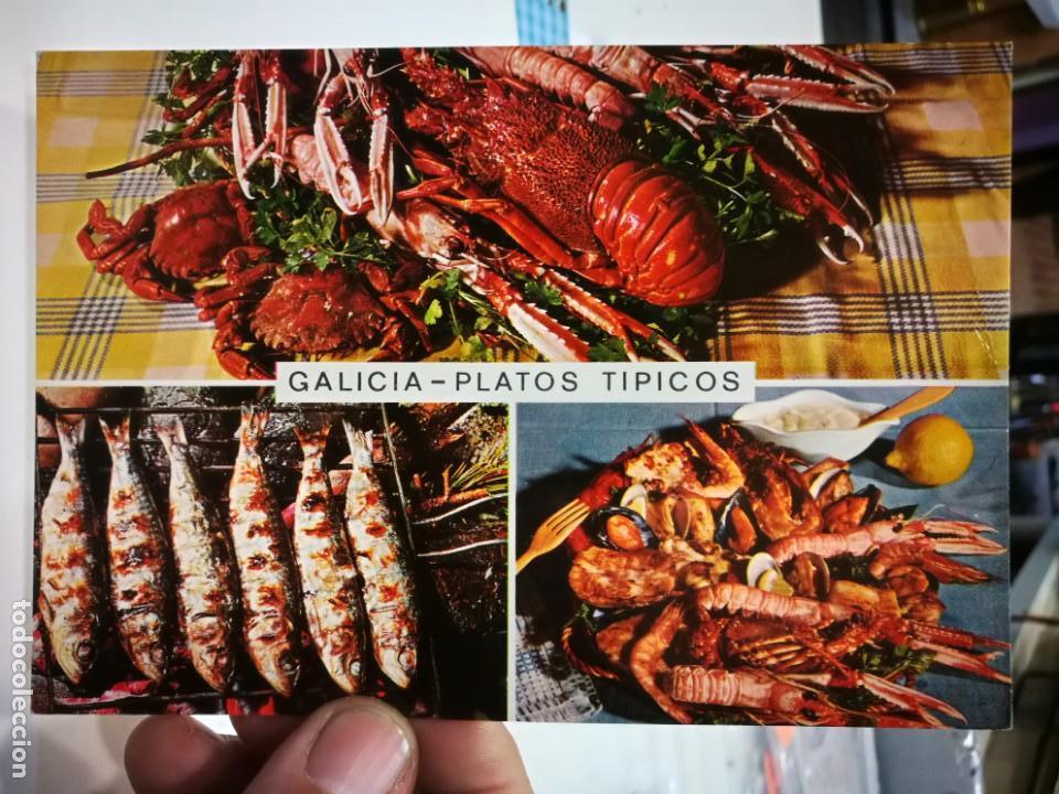 POSTAL GALICIA PLATOS TÍPICOS (Postales - España - Galicia Antigua (hasta 1939))