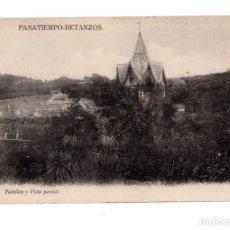 Postales: BETANZOS (CORUÑA).- EL PASATIEMPO. PABELLON Y VISTA PARCIAL.. Lote 139186650