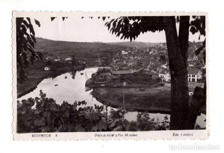 BETANZOS (A CORUÑA).- VISTA PARCIAL Y RIO MANDEO (Postales - España - Galicia Antigua (hasta 1939))