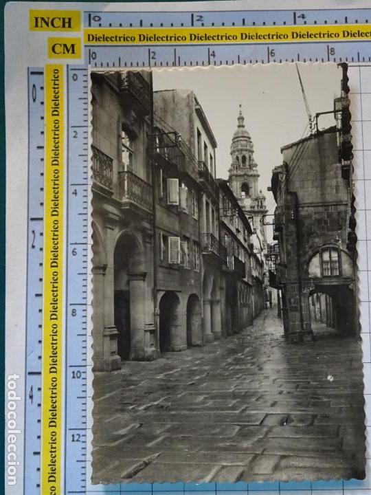 POSTAL DE LA CORUÑA. AÑOS 30 50. SANTIAGO DE COMPOSTELA. RÚA DEL VILLAR. 2 GARRABELLA. 966 (Postales - España - Galicia Antigua (hasta 1939))