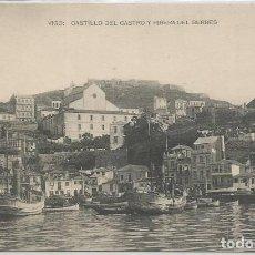 Postales: POSTAL VIGO CASTILLO DEL CASTRO RIBERA DEL BERBES GALICIA FOTOTIPIA HAUSER Y MENET. Lote 140017882