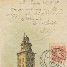 Postales: POSTAL A CORUÑA. TORRE DE HÉRCULES. REPRODUCCIÓN LA OPINIÓN. Lote 140034902