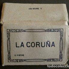 Postales: LA CORUÑA - PEQUEÑO BLOK LIBRITO CON 15 VISTAS - ED. FOTO ROISIN - (10 X 6 CM) A CORUÑA - BLOCK. Lote 140223226