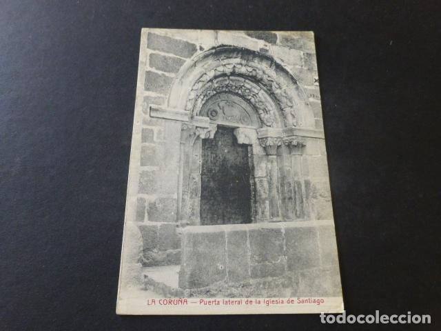 LA CORUÑA PUERTA LATERAL DE LA IGLESIA DE SANTIAGO (Postales - España - Galicia Antigua (hasta 1939))