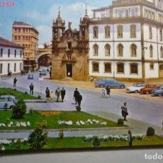 Postales: POSTAL LUGO - CALLE Y PUERTA S.FERNANDO-IGLESIA S.FROILAN- ESCRITA. Lote 142198750