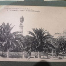 Postales: POSTAL DE LA CORUÑA ESTATUA DE DANIEL CARBALLO PRINCIPIOS DEL SIGLO 20. Lote 142945497