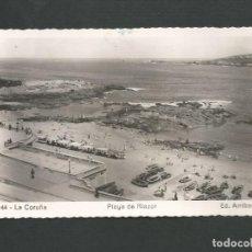 Postales: POSTAL CIRCULADA - LA CORUÑA 144 - PLAYA DE RIAZOR - EDITA ARRIBAS. Lote 143366646