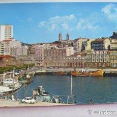Postales: POSTAL DE VIGO : AVENIDA DE CANOVAS DEL CASTILLO . AÑOS 70, PUERTO, BARCOS, ETC. Lote 143366954