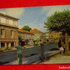 Postales: POSTAL LA CAÑIZA (PONTEVEDRA) CALLE PROGRESO Y CRUCE DE LA CARRETERA A ARBÓ.. Lote 143597062