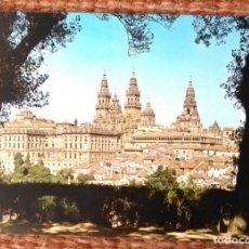 Postales: SANTIAGO DE COMPOSTELA - VISTA DESDE EL PASEO DE LA HERRADURA. Lote 144701706