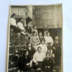 Postales: FOTOGRAFÍA POSTAL DE GRUPO, MEAÑO 1929, PONTEVEDRA.. Lote 144932656