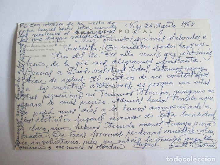 Postales: POSTAL PONTEVEDRA - VIGO - VISTA PANORAMICA DESDE MOAÑA - 1959 - CAMPAÑA II 9- ESCRITA SIN CIRCULAR - Foto 2 - 145402202