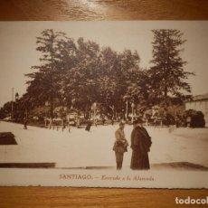 Postales: POSTAL - SANTIAGO - ENTRADA A LA ALAMEDA - GRÁFICAS VILLARROCA - SIN CIRCULAR -. Lote 145666274