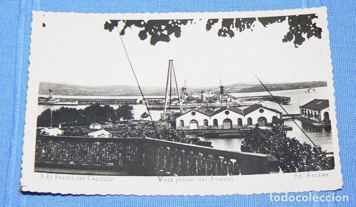 POSTAL DE EL FERROL DEL CAUDILLO VISTA PARCIAL DEL ARSENAL ED. ARRIBAS Nº 3 (Postales - España - Galicia Antigua (hasta 1939))