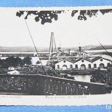 Postales: POSTAL DE EL FERROL DEL CAUDILLO VISTA PARCIAL DEL ARSENAL ED. ARRIBAS Nº 3. Lote 146131498