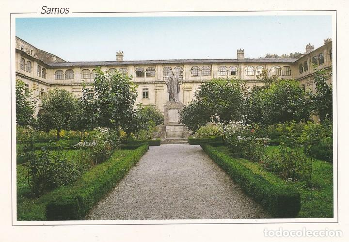 POSTAL CLAUSTRO PADRE FEIJOO. MONASTERIO DE SAMOS. LUGO (Postales - España - Galicia Moderna (desde 1940))