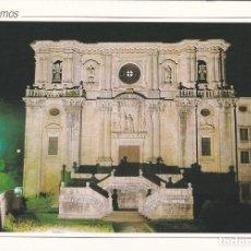 Postales: POSTAL FACHADA DEL MONASTERIO (NOCTURNA). SAMOS. LUGO. Lote 180193876