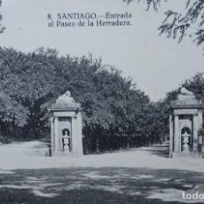 Postales: SANTIAGO DE COMPOSTELA - ENTRADA AL PASEO DE LA HERRADURA. Lote 146347226