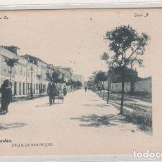 Postales: COLECCIÓN RIA EO. SERIA A 2 RIBADEO CALLE DE SAN ROQUE FOT LACOSTE. REVERSO SIN DIVIDIR. SIN CIRCULA. Lote 146420450